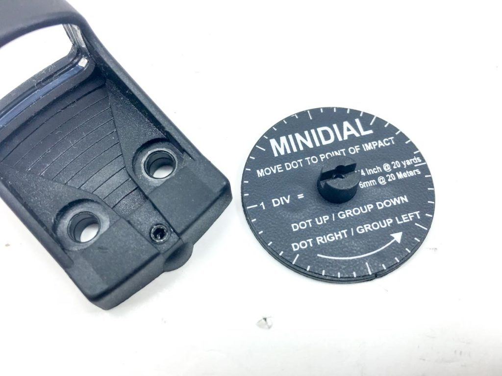This dial sticks on the included Allen wrench and helps you make easy elevation and windage adjustments to get on target quickly.
