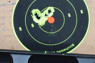 Clean gun, 25 yards.