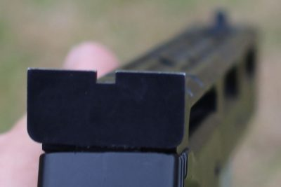 A good look down the iron sights.
