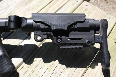 The A*B Arms Urban Sniper Stock is fully adjustable and extremely comfortable.
