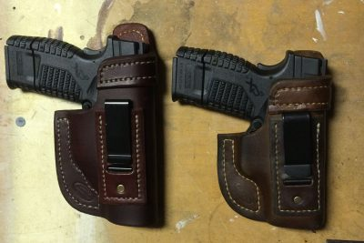 Holsters from Jackson Leatherworks.