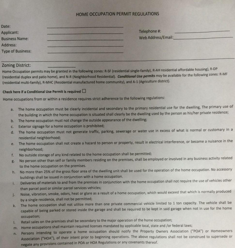 paperwork for home business if I were a gunsmith