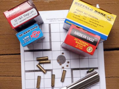 The author tested the .327 with a range of brands and bullet weights and got very good results.