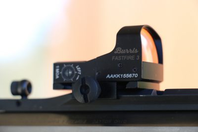 The author equipped the Ridge Runner's optic rail with a Burrus FastFire red dot sight.