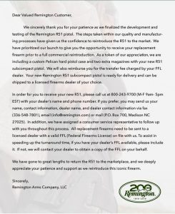 This letter is apparently being sent out to the initial buyers of the R51. (Photo: TFB)