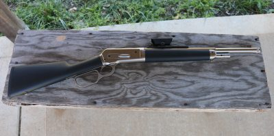 The Ridge Runner takedown lever action is extremely compact.