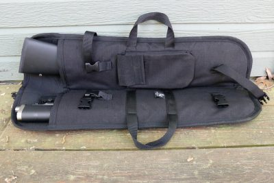 The Ridge Runner can be broken down and stored in a bag for easy portability.