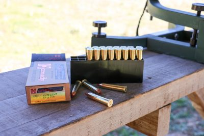 The author ran the Ridge Runner with Hornady's highly capable LEVERevolution ammo that employs a soft, pointed tip.