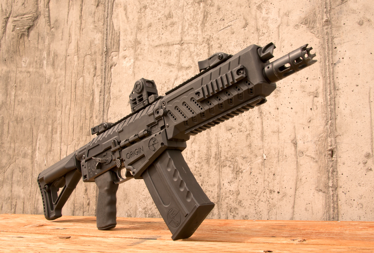 "The 10""-barreled Fostech Origin-12 is an AK-based 12-gauge that makes for an amazing entry shotgun."