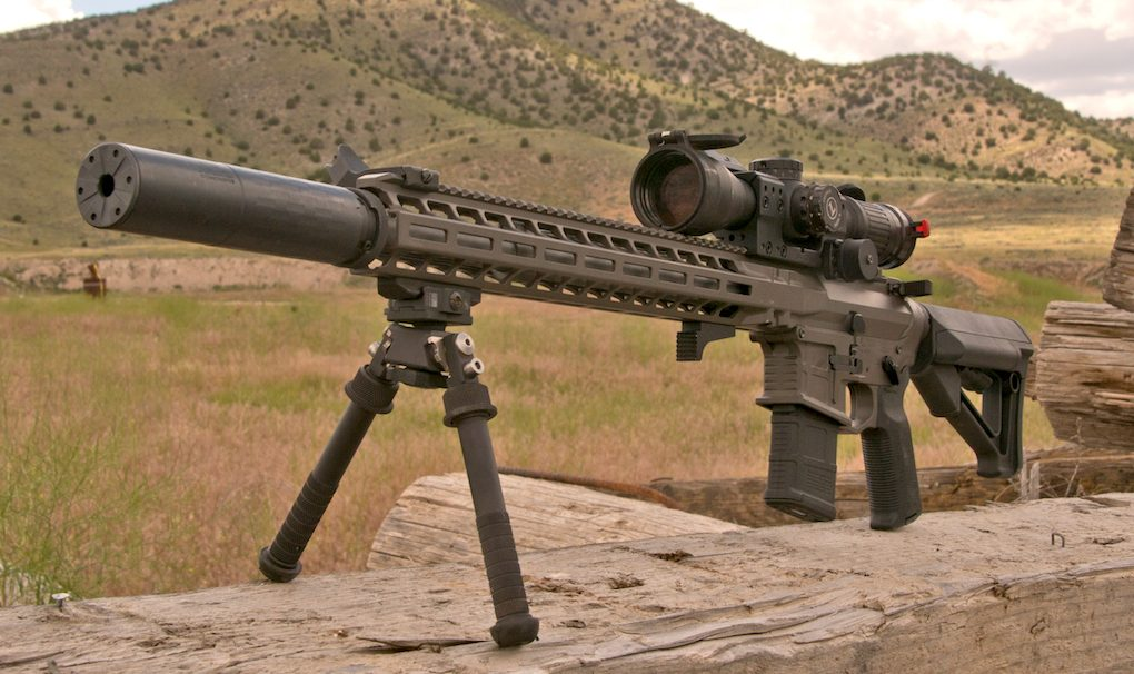 Adding a Silencerco suppressor, the AXTS SPR remained well balanced with very little shift in impact once attached.