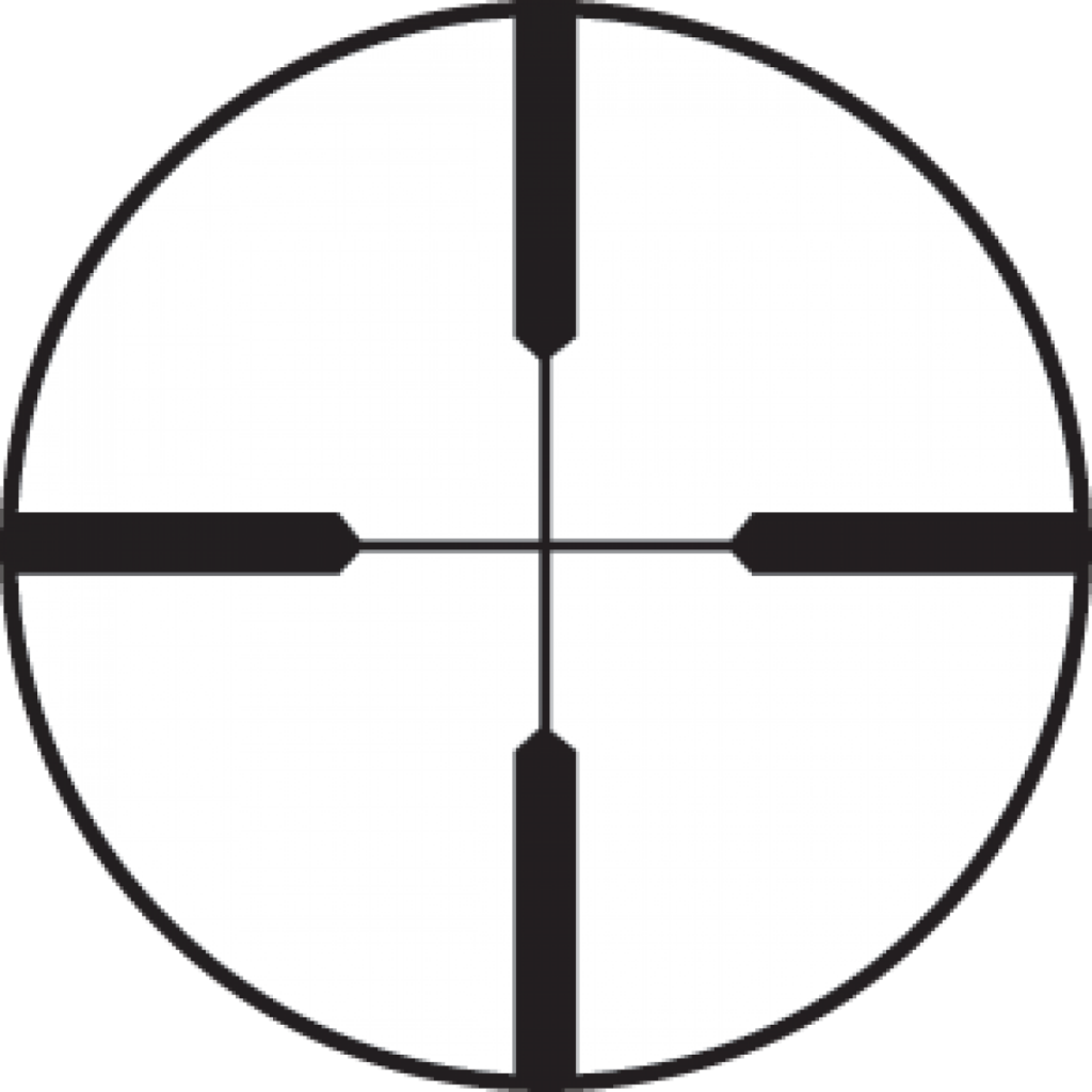 The thick lines of this Burris Heavy Duplex reticle make it fast and easy to see against busy target backgrounds.