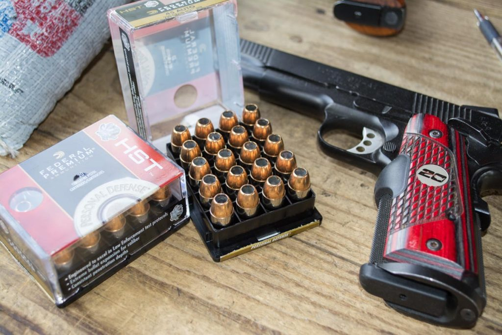Federal's HST proved accurate and consistent from a variety of .45 ACP pistols.