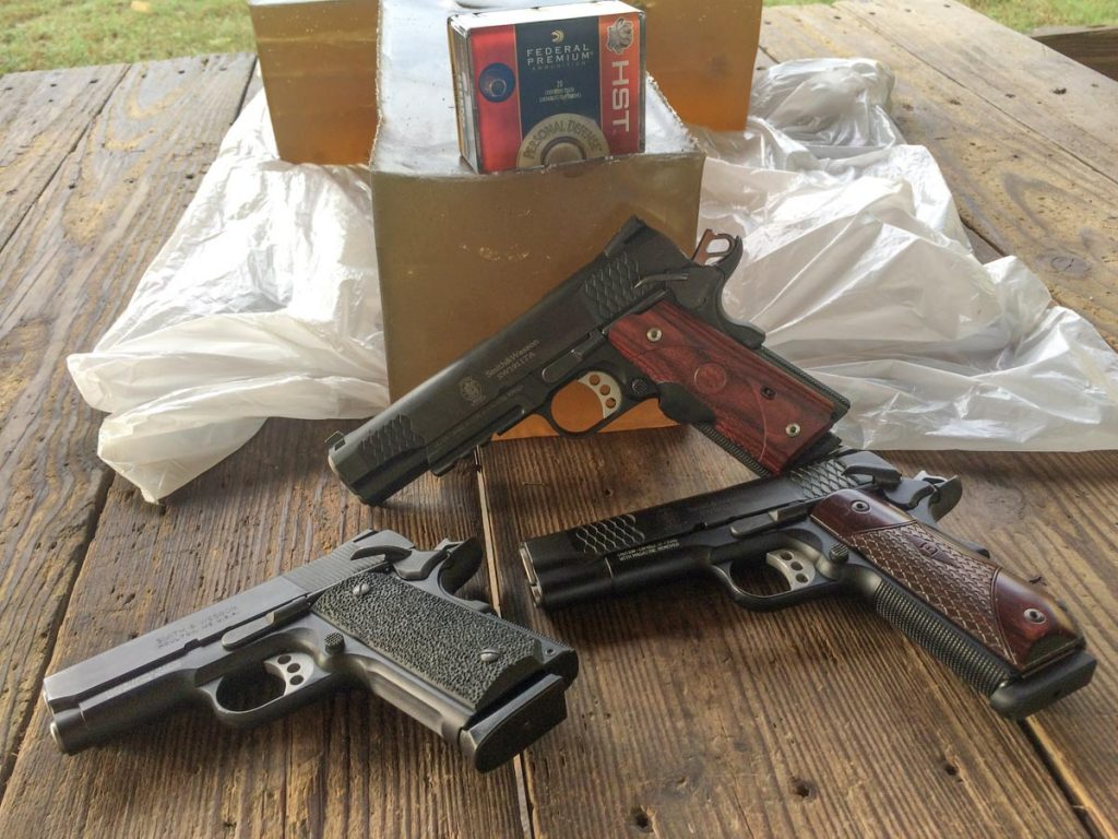 I did gel testing with a trio of Smith & Wesson 1911s of different size.