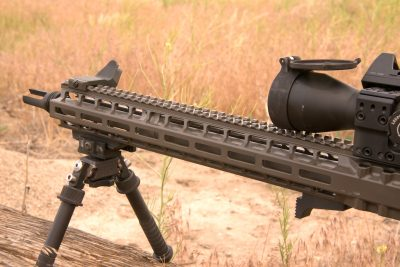 Designed to match the barrel, the AXTS custom hand guard extends all the way to the base of the flash hider, completely protecting the barrel.
