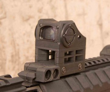 Shield's SIS red dot sight stays in place through barrel changes and never came out of zero or loose.