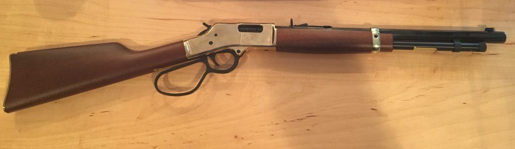 The Henry Big Boy Carbine. It's short, like a carbine.