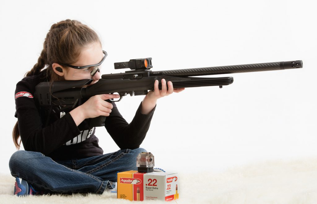 Just nine-years-old and already a serious competitive shooter, Alexis Welch is sponsored by Aguila Ammunition and takes her sport very seriously.