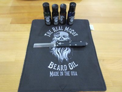 In addition to the beard comb, you can also get some beard oil.