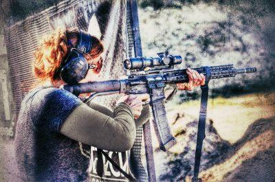 Niki Hayes shoots her Hayes Custom Guns AR at the Xtreme Bullets Texas 3 Gun Championship, 2016.