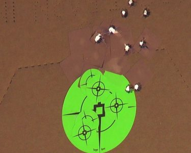 A 10-shot groups= at 20 yards with Remington UMC ammunition.