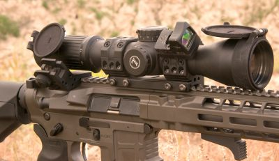 The author equipped the AXTS with Leupold's Mark 6 using a T3 reticle. It allowed him to get hits on target quickly and accurately.