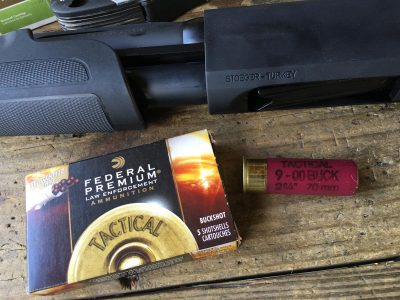 This Federal Premium Tactical 12-gauge with FliteControl wads is the best buckshot load I've found.