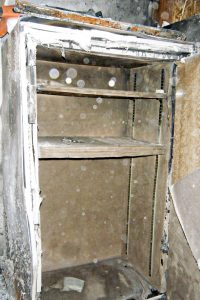 This image shows the protected interior of a safe after a serious house fire. Image courtesy of Liberty Safe.
