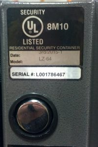 An Underwriters Lab (UL) rating on your safe means that it is held to verifiable standard of protection. Not all safes have this.