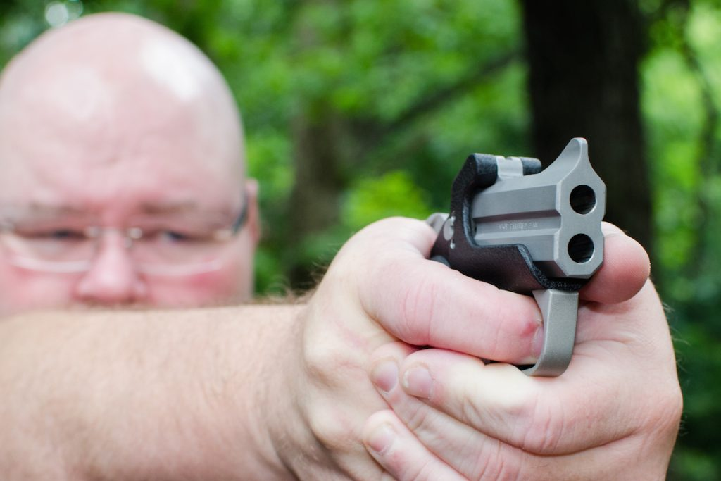 The Bond Arms Backup derringer packs in two barrels of 9mm or .45 ACP power for deep-cover defense.