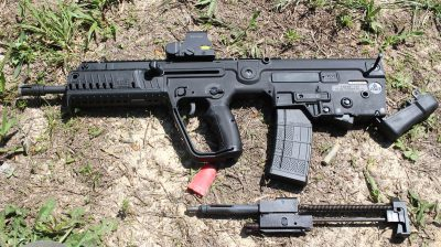 Field stripping the Tavor X95 is as easy and simple as pushing one pin.