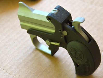 The sights on the Backup are a basic and straightforward notch rear unit and a substantial blade front sight integral to the barrel.