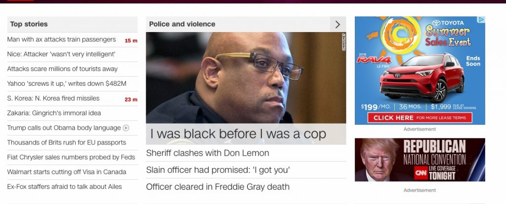 I took this screen shot of the CNN homepage earlier this week. I think it's pretty telling.