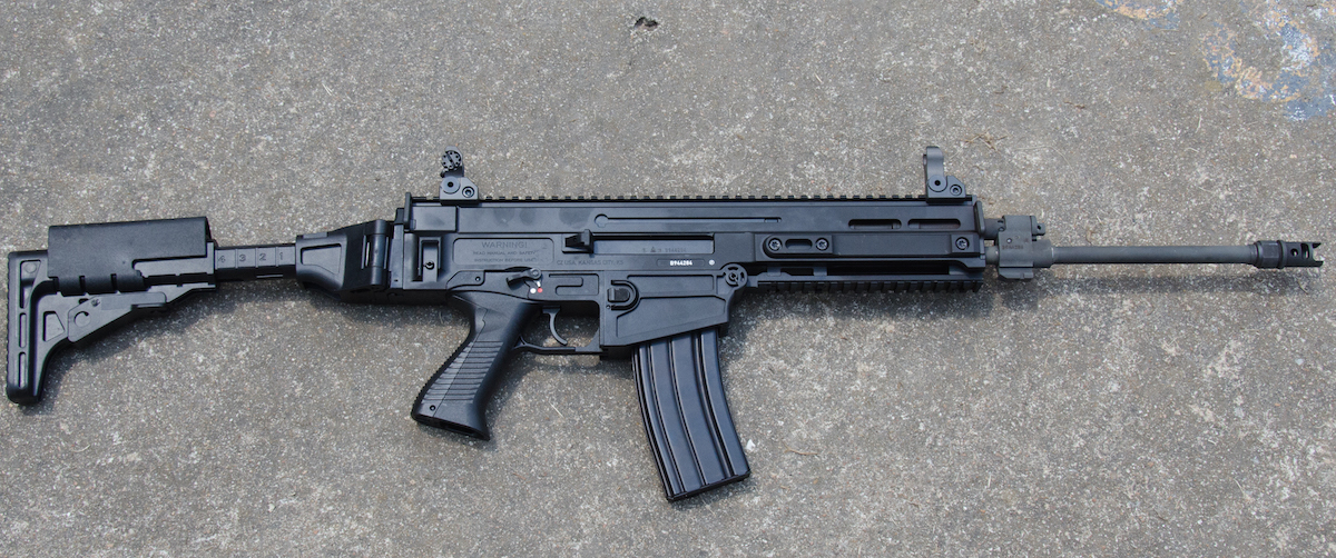 The all-black 805 Bren S1 Carbine is all business and quite an eye catcher.