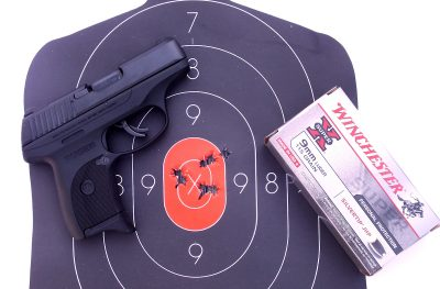 The Ruger LC9s is a powerful and accurate 9mm. The author shot this sub-two inch group standing at ten yards.