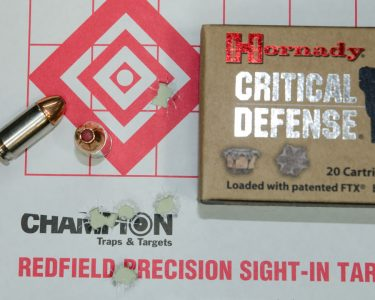 Take away the flyer, and Hornady Critical Defense was quite impressive.