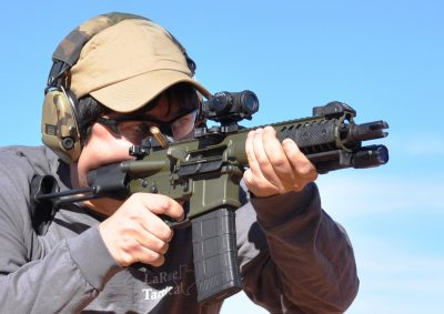 """With an 8.5"""" barrel and an ultra-short stock, the PDW packs a lot of punch into a small package."""