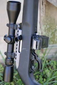 The author equipped the rifle with a TriMag system that connects three factory Ruger 10-round magazines together.