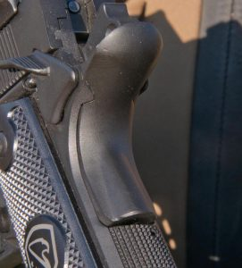 The pistol came with a extended beavertail grip safety.