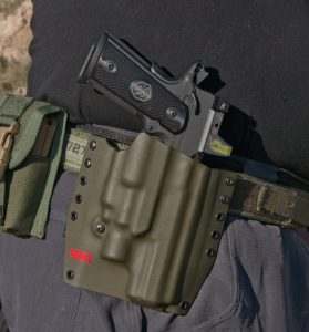The author used an NSR Tactical Kydex holster made for the pistol with the Surefire X400 equipped.