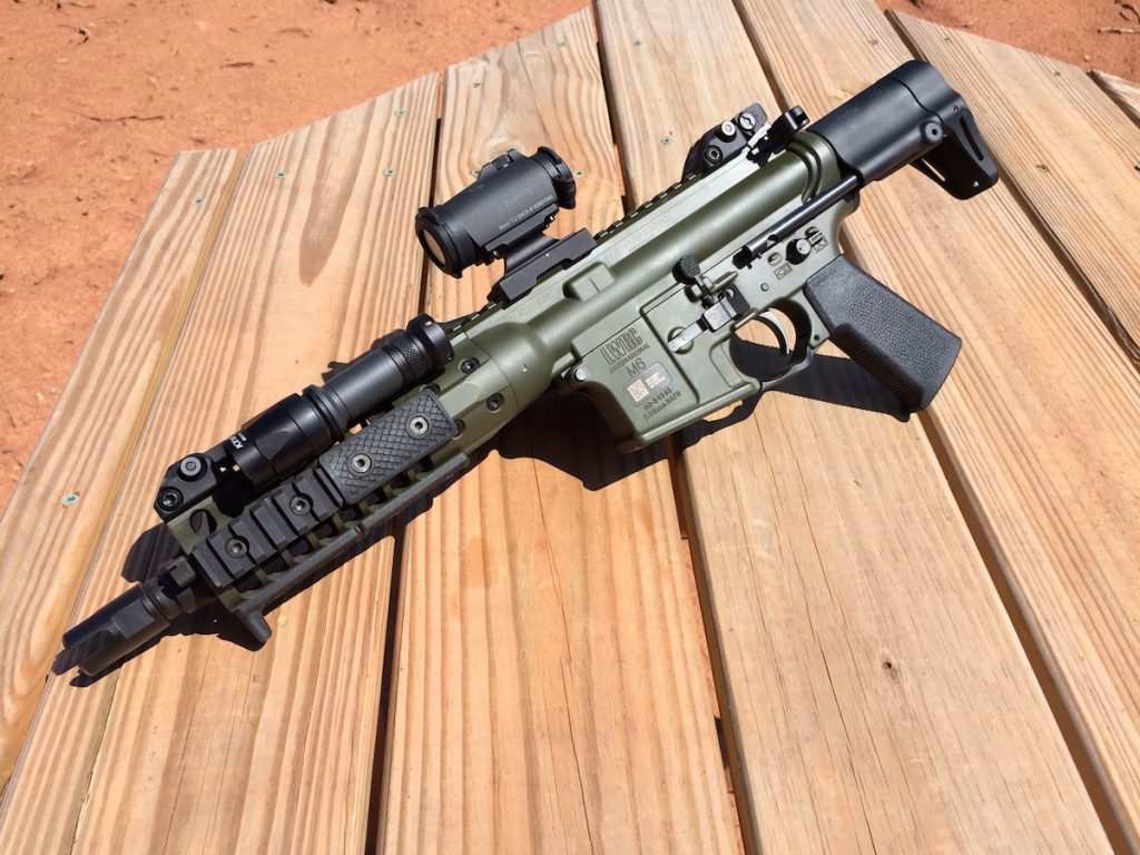 The LWRC IC-PDW provides end-users with an extremely compact yet capable 5.56mm weapon system. And the company that makes this also makes a wide-range of civilian-legal AR firearms you can purchase right now.