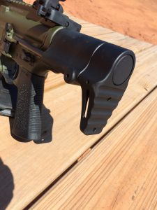 The ultra-compact buttstock design of the IC-PDW necessitated a redesign of the bolt carrier and buffer tube area.