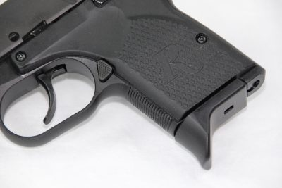 The RM380 comes with a flush-fitting magazine as well as one with a finger extension (shown).