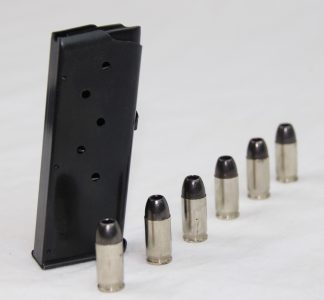 The magazine of the RM380 packs in six rounds of .380 ACP ammunition.