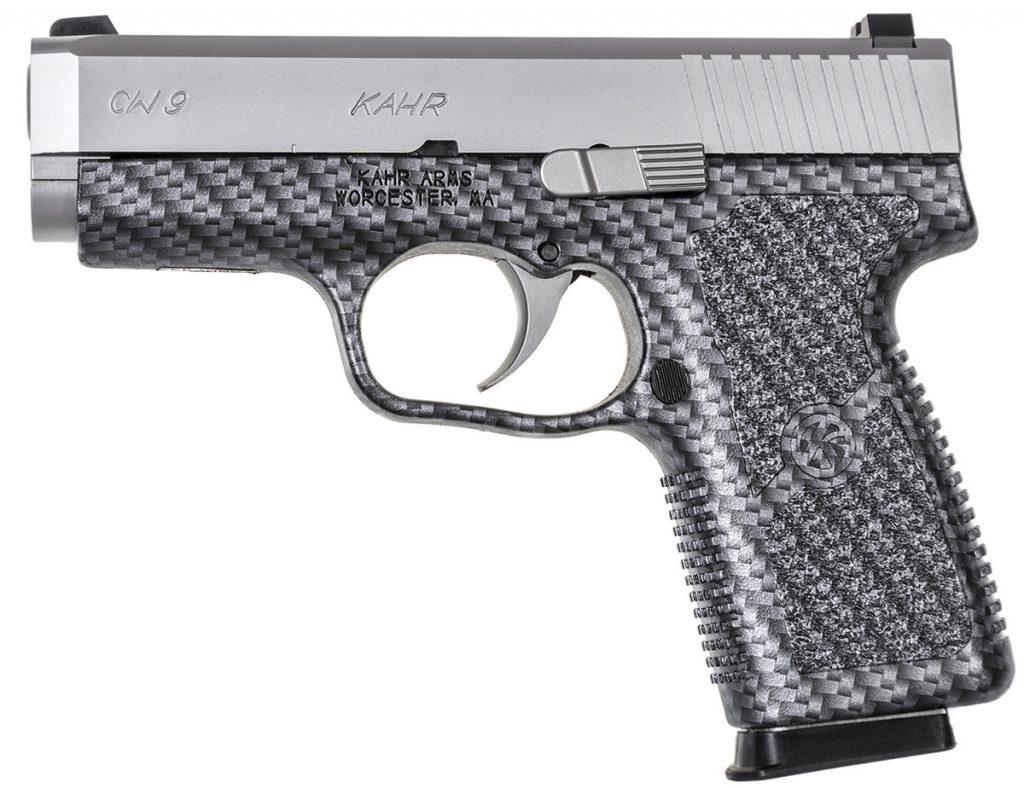 The CW9 pistol in black carbon fiber.
