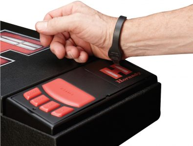 RFID units, like this Hornady system, can use bracelets to unlock.