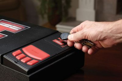 The Hornady RFID system show here can also employ a key fob for unlocking.