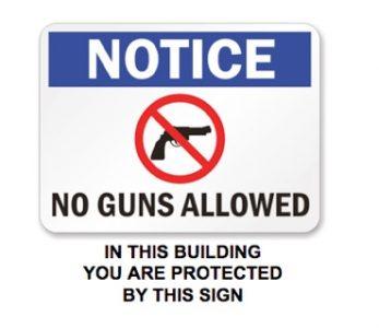No Guns Allowed = Soft target.