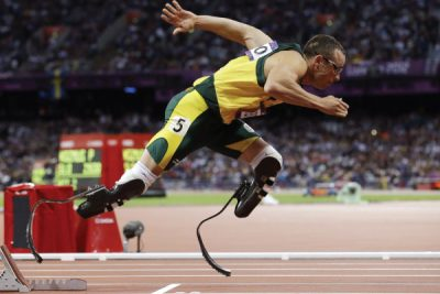South Africa's Oscar Pistorius competes the men's 400-meter semifinal during the 2012 Summer Olympics in London. (Photo: AP)