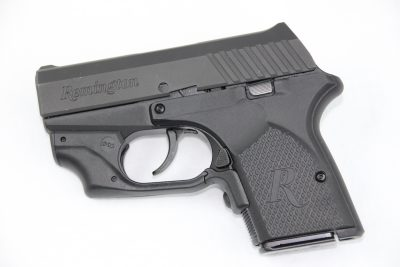 The magazine release of the RM380 is located to the rear of the trigger guard and is triangular in shape.