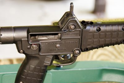 The author did note that the rear sight is plastic and can be bent.